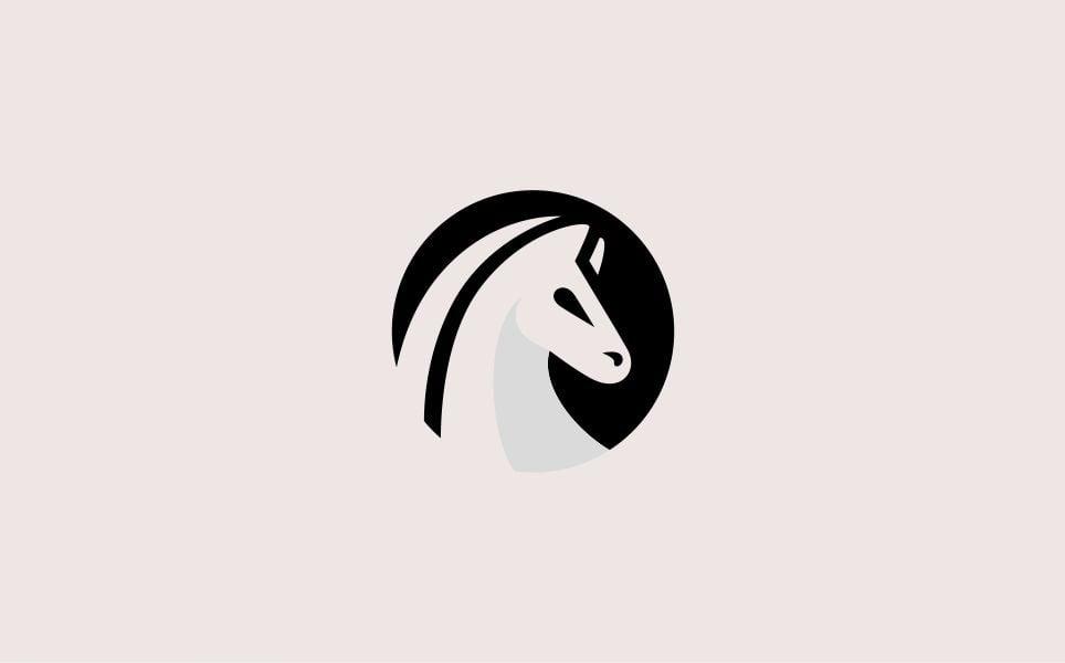 Horse Tagline Logo Template