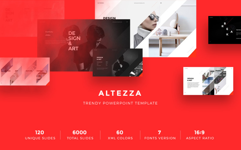 Altezza PowerPoint Template New Screenshots BIG