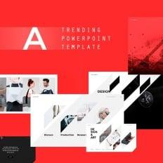 Red powerpoint template templatemonster altezza beautiful powerpoint template toneelgroepblik Choice Image