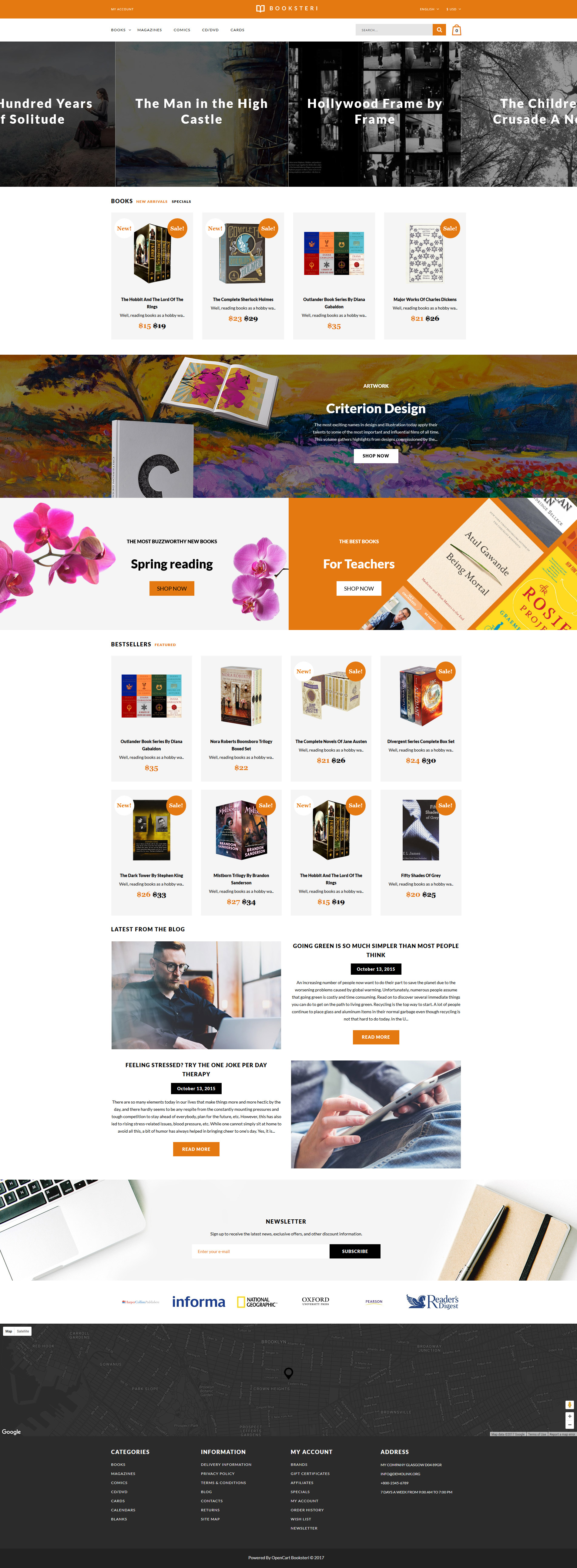 Book Store Responsive Opencart Template 63696