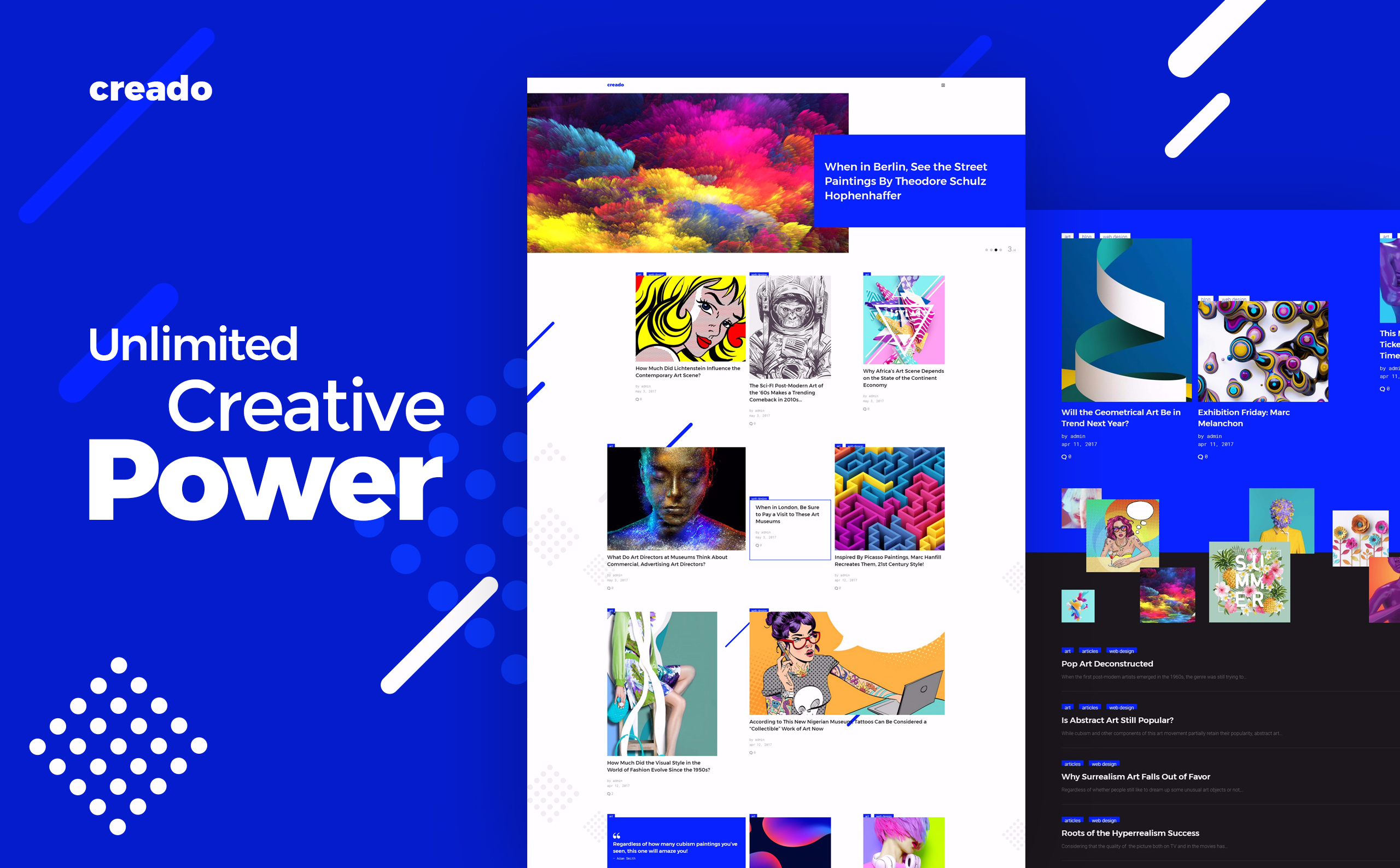 Creado - Art Gallery WordPress Theme