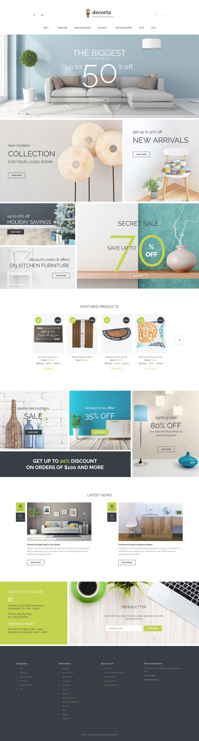 Decorta PrestaShop Theme New Screenshots BIG