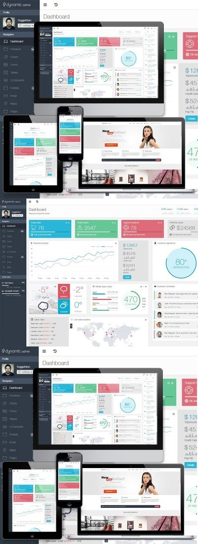 Dynamic - Responsive Front-end & Admin Template #63632