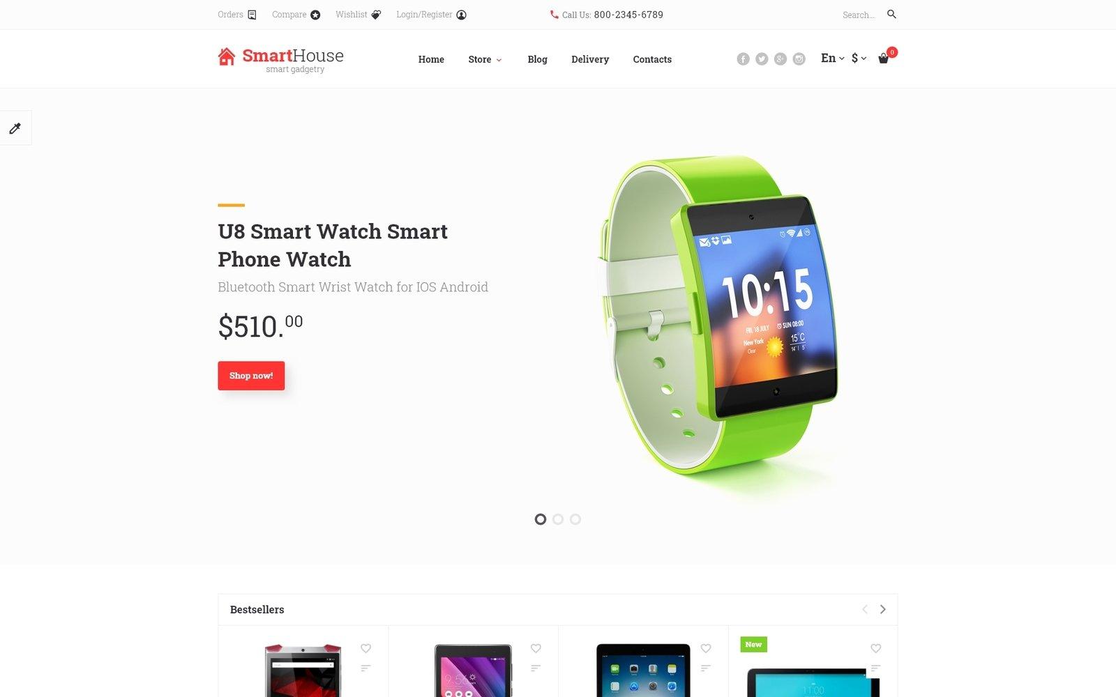 Electronics Store Responsive OpenCart Template - screenshot