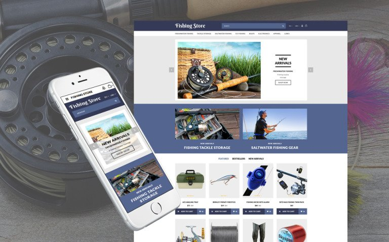 Fishing Responsive OpenCart Template New Screenshots BIG