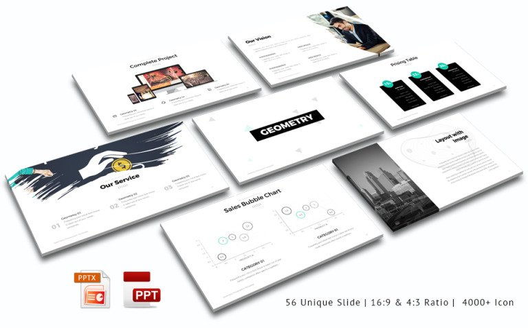 Geometry PowerPoint Template New Screenshots BIG