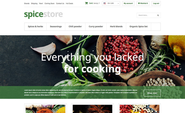 Grocery Store X-Cart Template New Screenshots BIG
