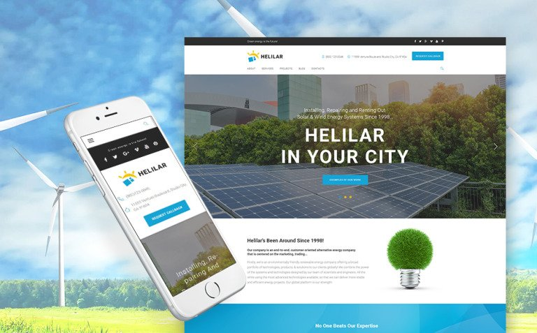 Helilar - Solar & Renewable Energy WordPress Theme New Screenshots BIG