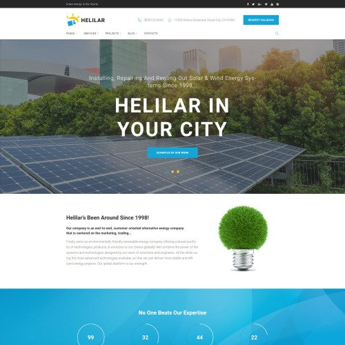 Helilar  - HTML5 WordPress Template