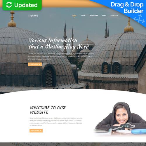 Islamic - MotoCMS 3 Template based on Bootstrap