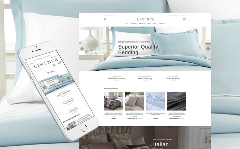 Linen & Lace Responsive Shopify Theme New Screenshots BIG