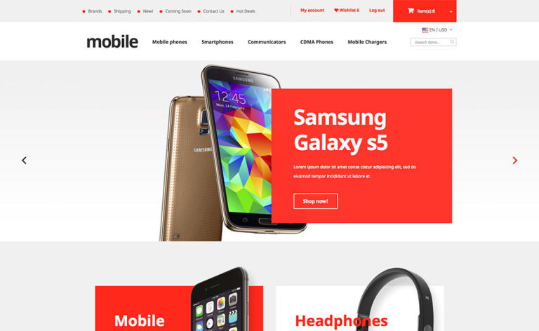 Mobile Phones X-Cart Template New Screenshots BIG
