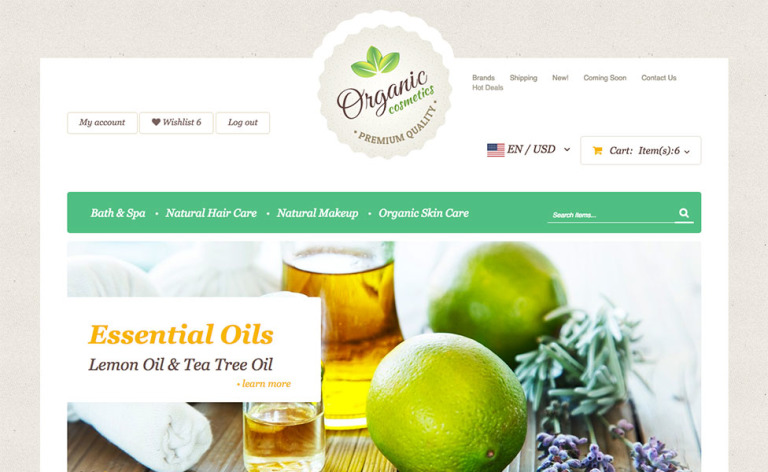 Organic Cosmetics X-Cart Template New Screenshots BIG