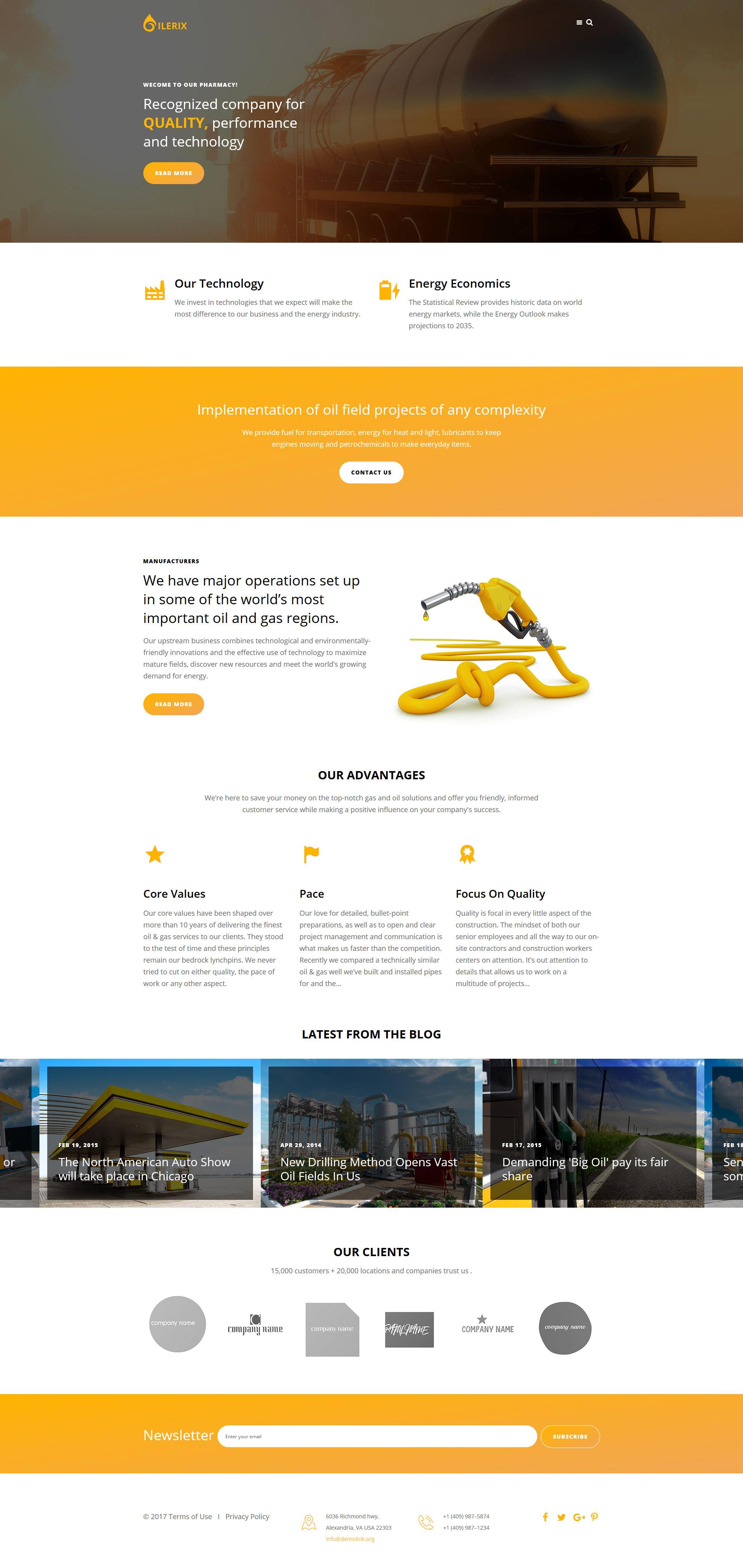 Plantilla Joomla Responsive para Sitio de Gas y petróleo #63689
