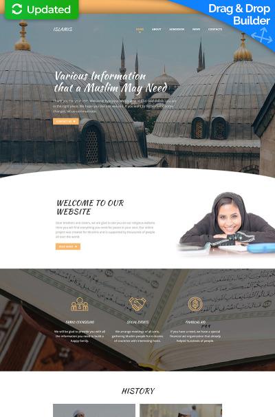 Responsive Plantilla Moto CMS 3  #63697 para Sitio de  para Sitio de Centros islámicos