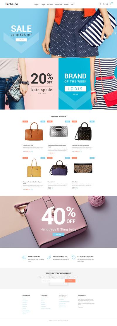 Responsives PrestaShop Theme für Handtasche