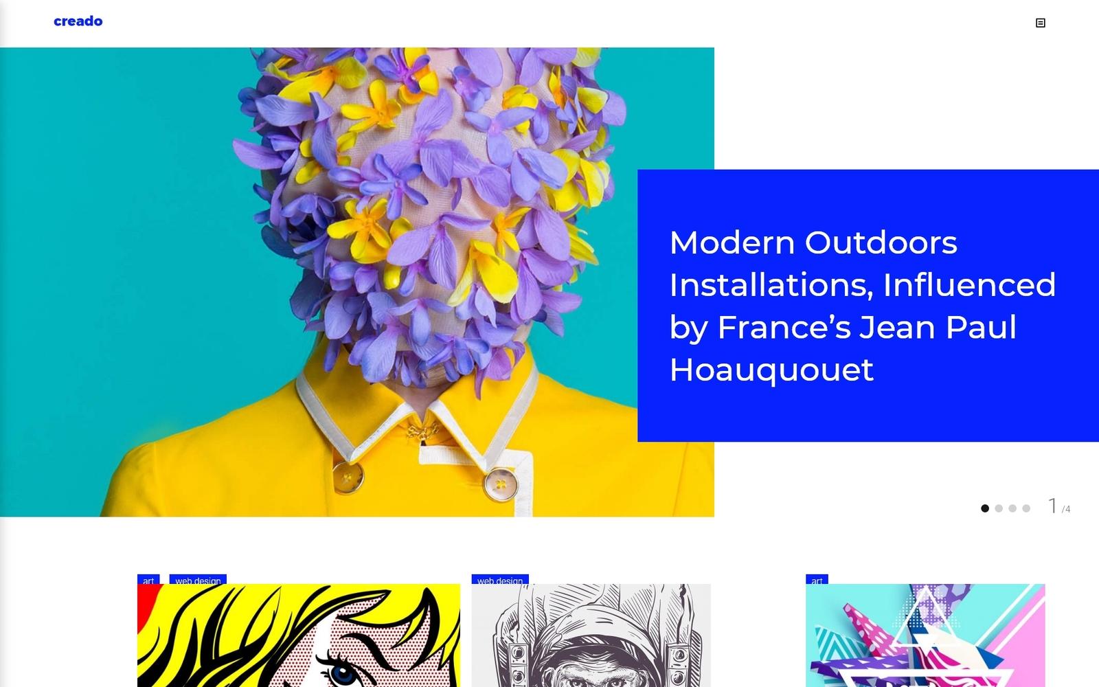 Reszponzív Creado - Art Gallery Responsive WordPress sablon 63661