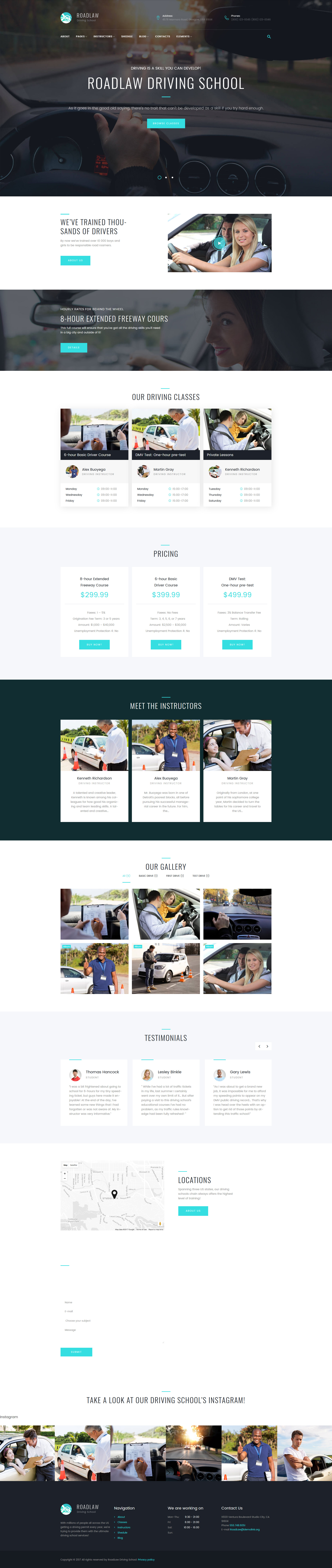Reszponzív RoadLaw - Driving School Responsive WordPress Theme WordPress sablon 63631