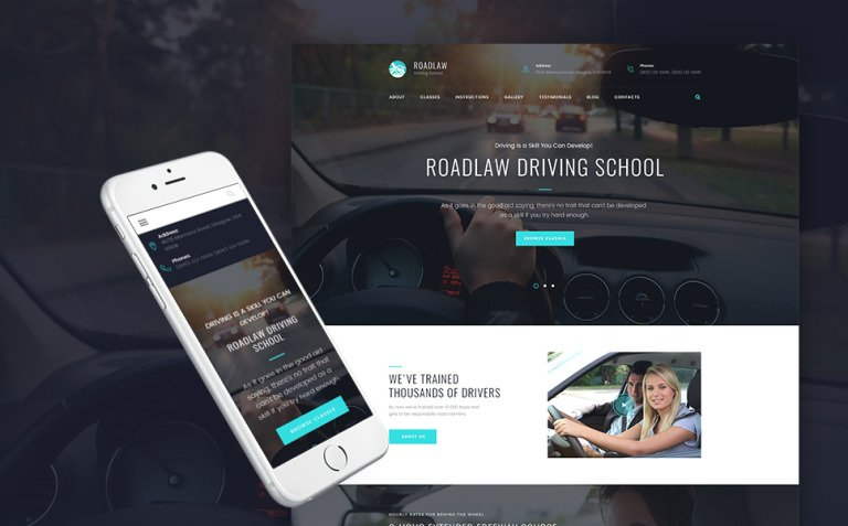 RoadLaw - Driving School Responsive WordPress Theme WordPress Theme New Screenshots BIG