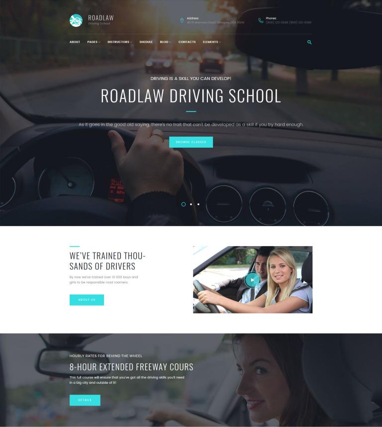 RoadLaw - Driving School Responsive WordPress Theme WordPress Theme