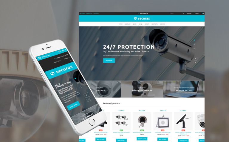 Securax - Security Equipment Store Responsive OpenCart Template New Screenshots BIG