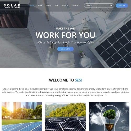 Solar Energy - Joomla! Template based on Bootstrap