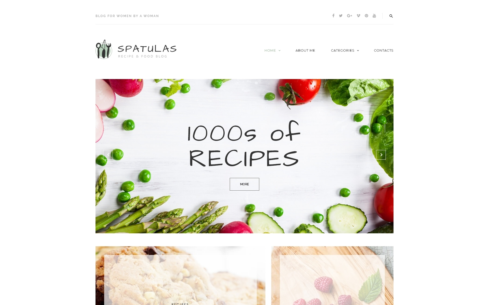 Spatulas - Recipe & Food Blog WordPress sablon 63601