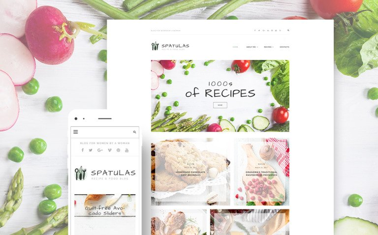 Spatulas - Recipe & Food Blog WordPress Theme New Screenshots BIG
