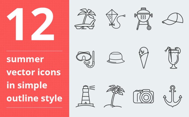 Summer Vector Iconset Template New Screenshots BIG