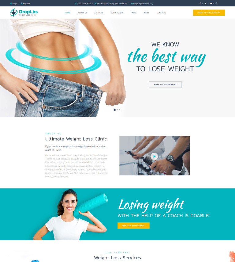 Tema de WordPress #63615 para Sitio de Perdida de peso
