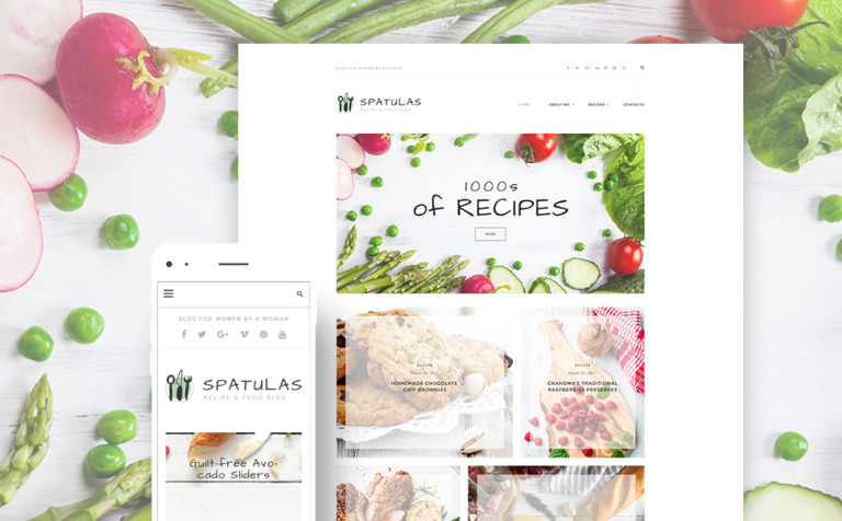 template wordpress responsive 63601 per un sito di cucina new screenshots big