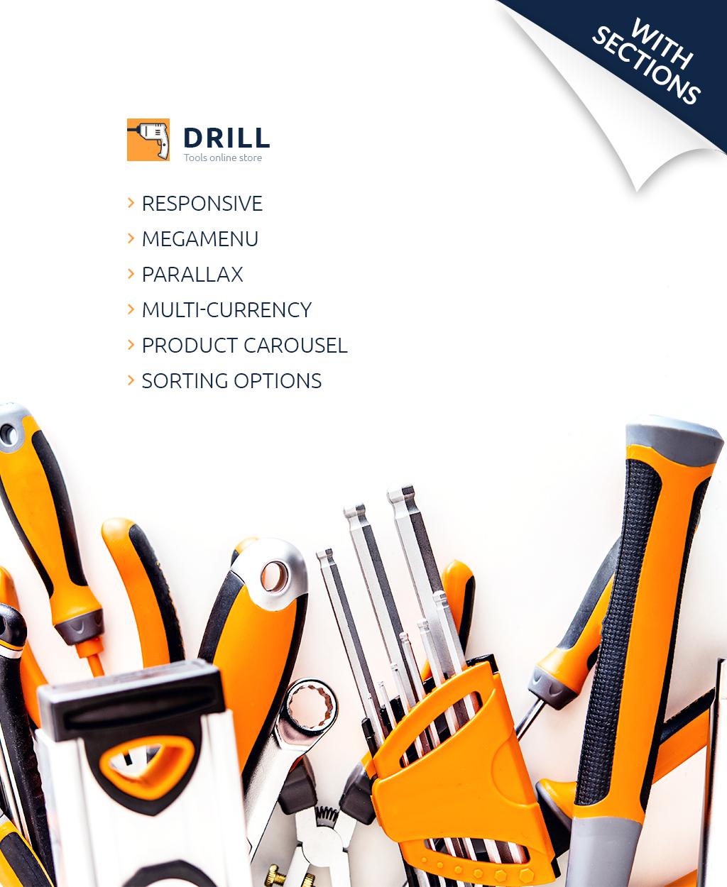 Thème Shopify adaptatif pour site d'outils et d'équipement #63668