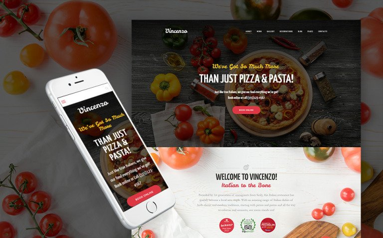 Vincenzo - Delicious Pizza Restaurant Responsive WordPress Theme New Screenshots BIG