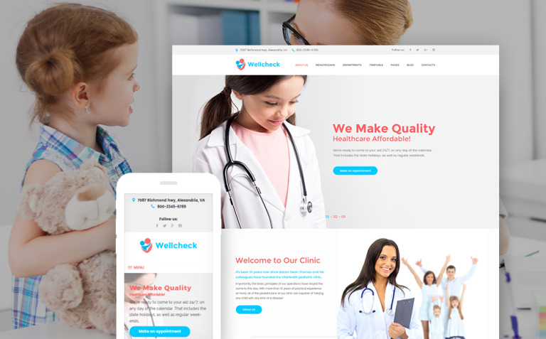 Wellcheck - Pediatric Clinic WordPress Theme New Screenshots BIG