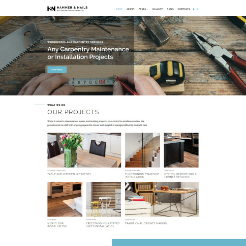 Hammer & Nails - Joomla! Template based on Bootstrap