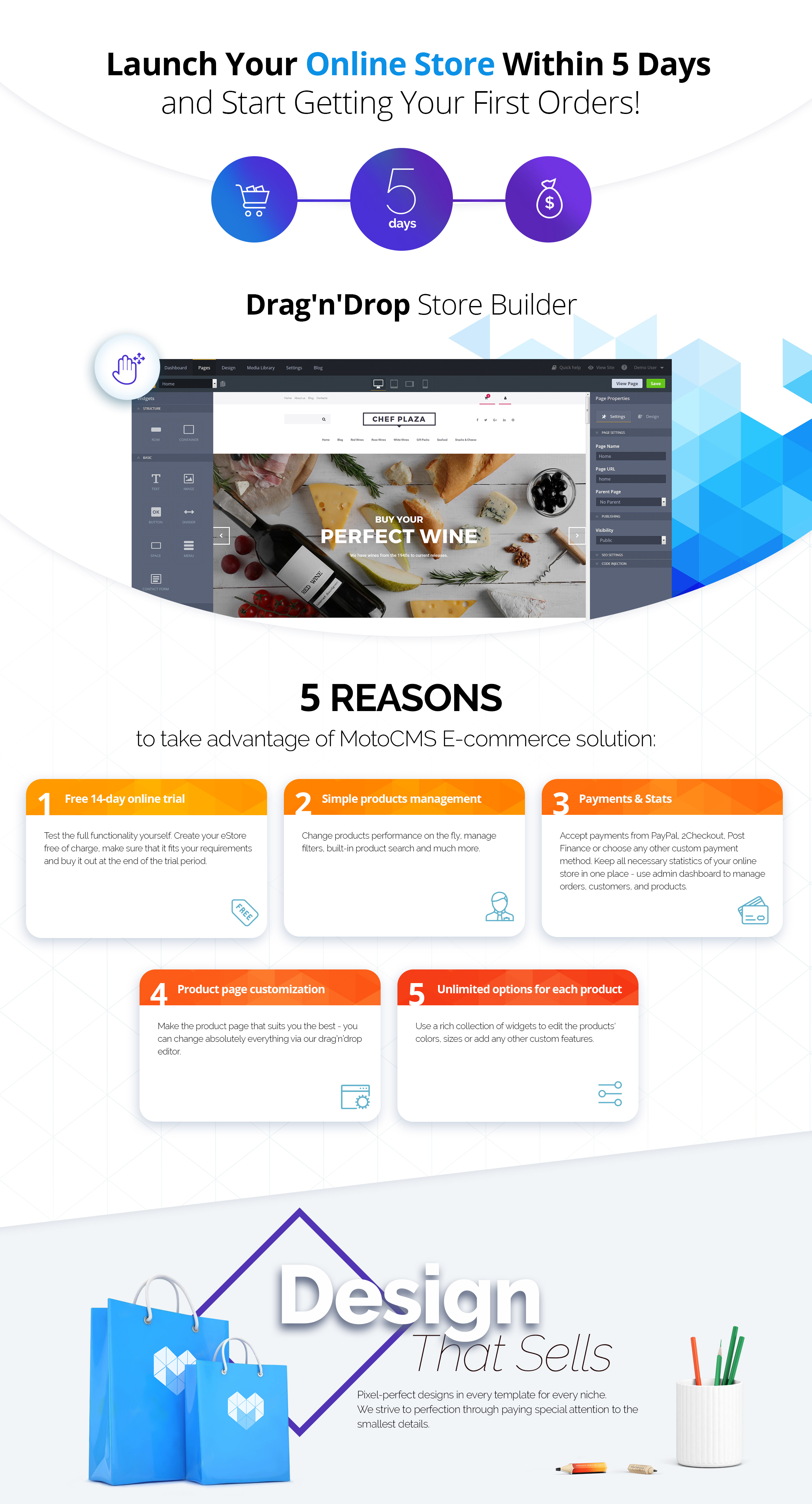 Chef Plaza - Food & Wine Store MotoCMS Ecommerce Template