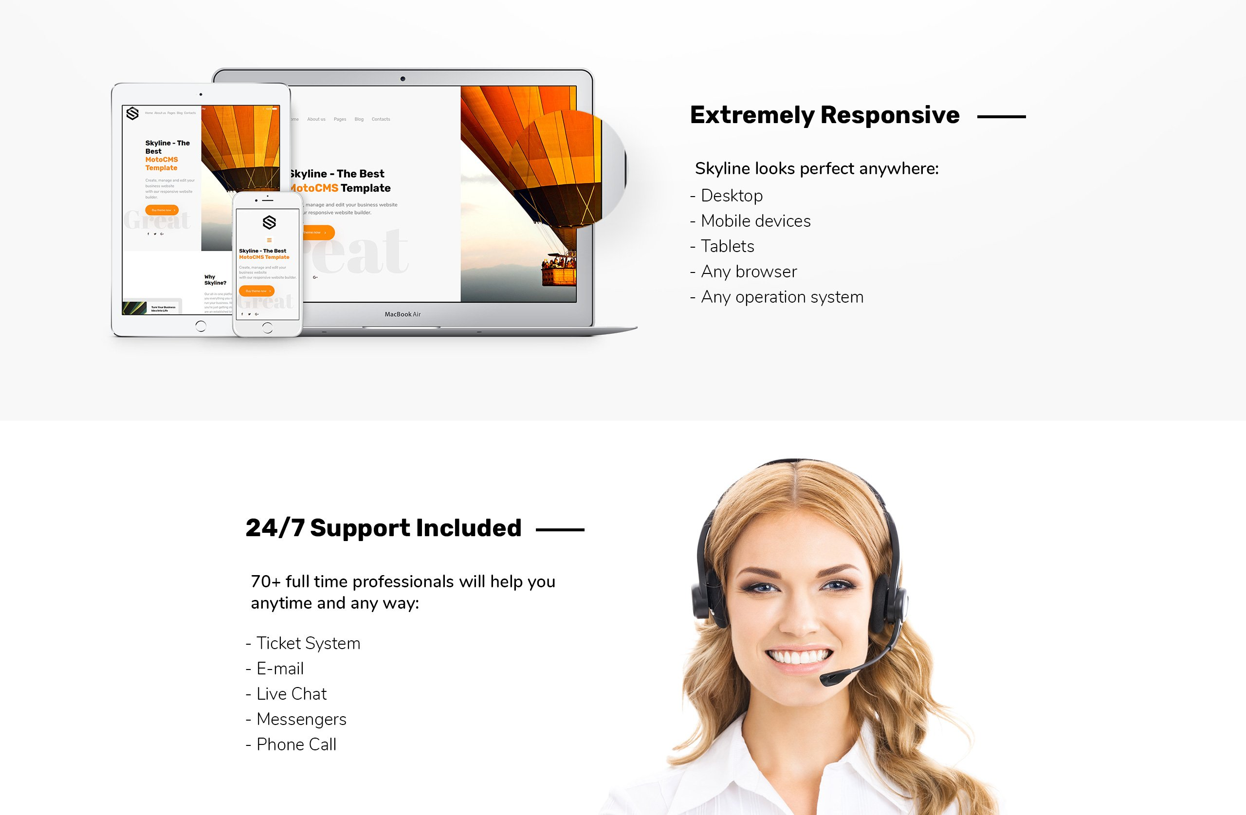 Skyline - Business, Dentistry, Architecture & Travel Moto CMS 3 Template