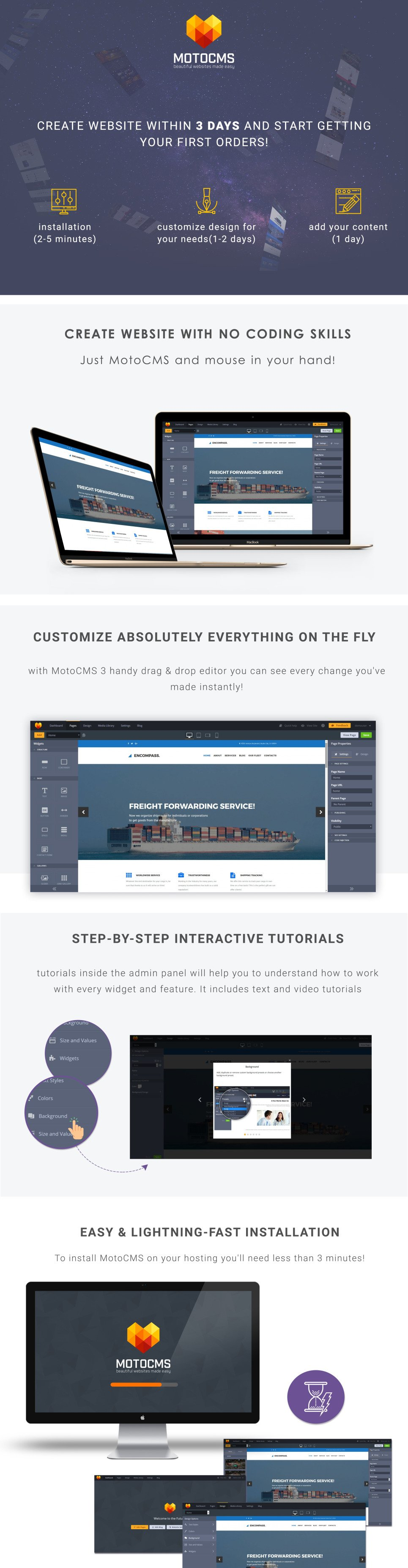 Freight Forwarder Website Template for Freight Company - MotoCMS