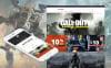 Адаптивний MotoCMS інтернет-магазин на тему ігровий портал New Screenshots BIG