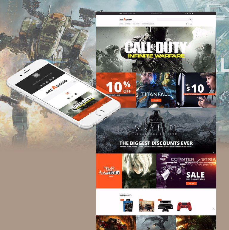 Arcademo - Video Games Shop MotoCMS Ecommerce Template New Screenshots BIG