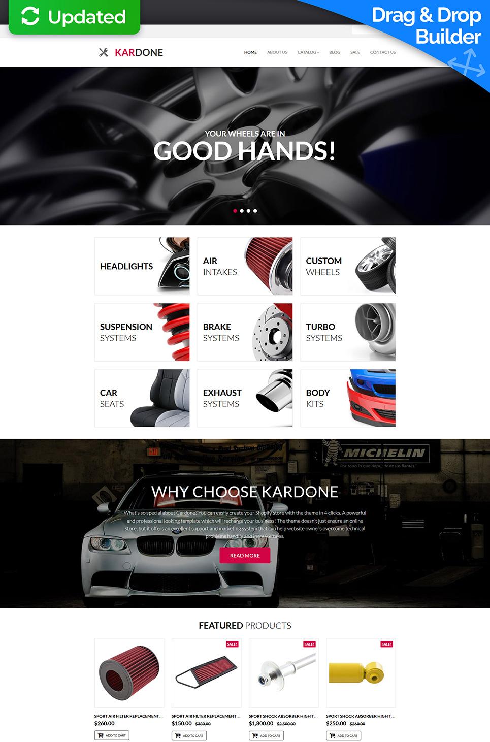 Auto Parts Responsive MotoCMS Ecommerce Template #63719