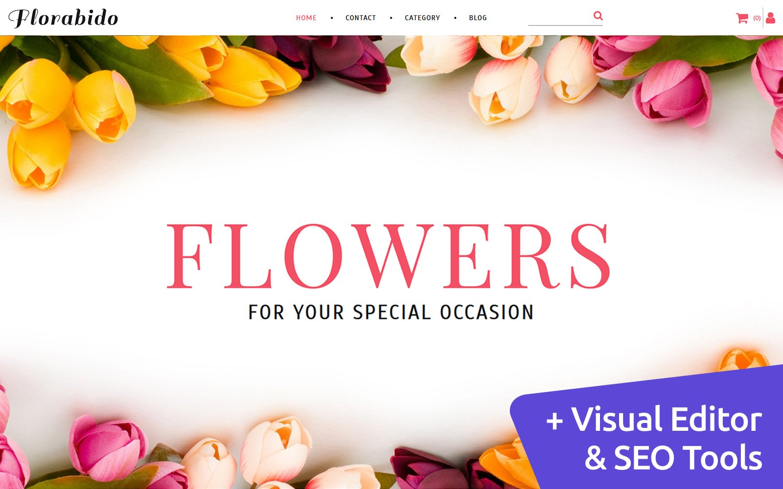 Bouquets & Floral Arrangement Template Ecommerce MotoCMS №63751
