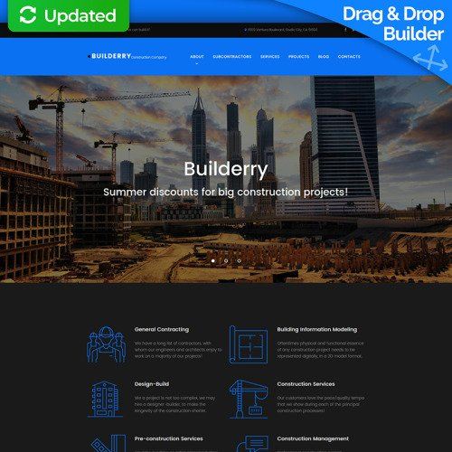 Builderry - MotoCMS 3 Template based on Bootstrap