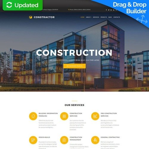 Construction - MotoCMS 3 Template based on Bootstrap