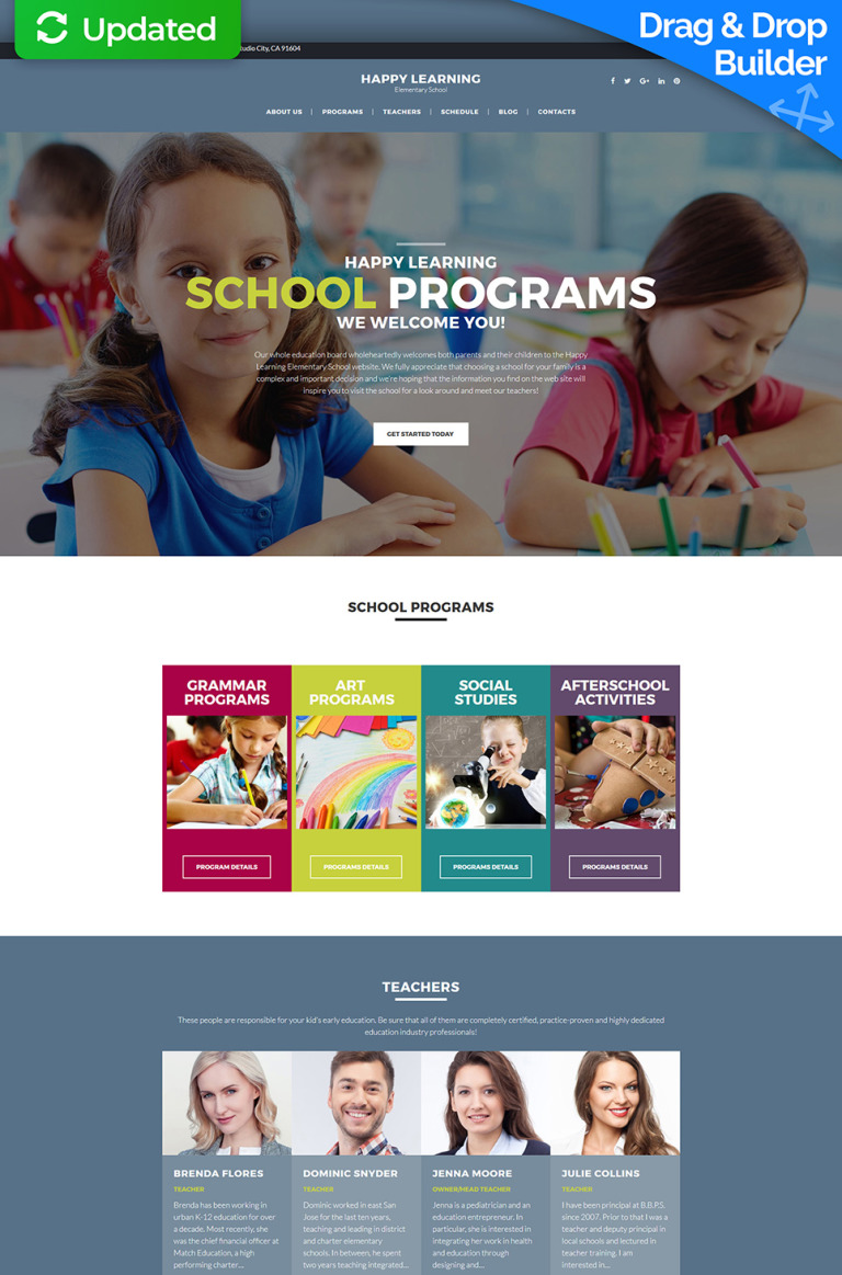 Elementary School Responsive Moto CMS 3 Template New Screenshots BIG