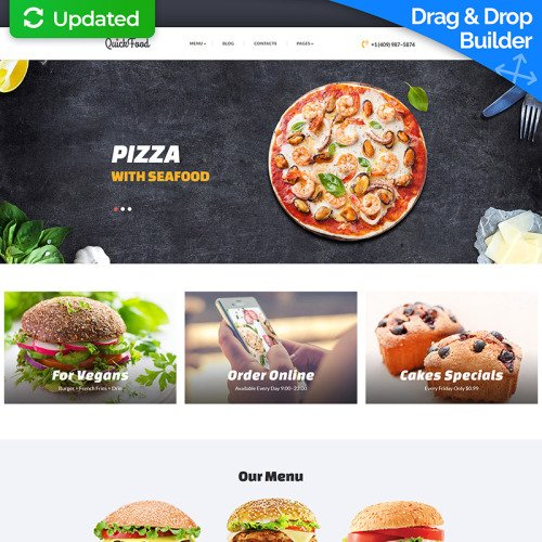 Quickfood - MotoCMS 3 Template based on Bootstrap