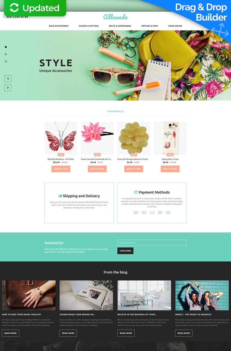 Gifts Store Responsive MotoCMS Ecommerce Template New Screenshots BIG