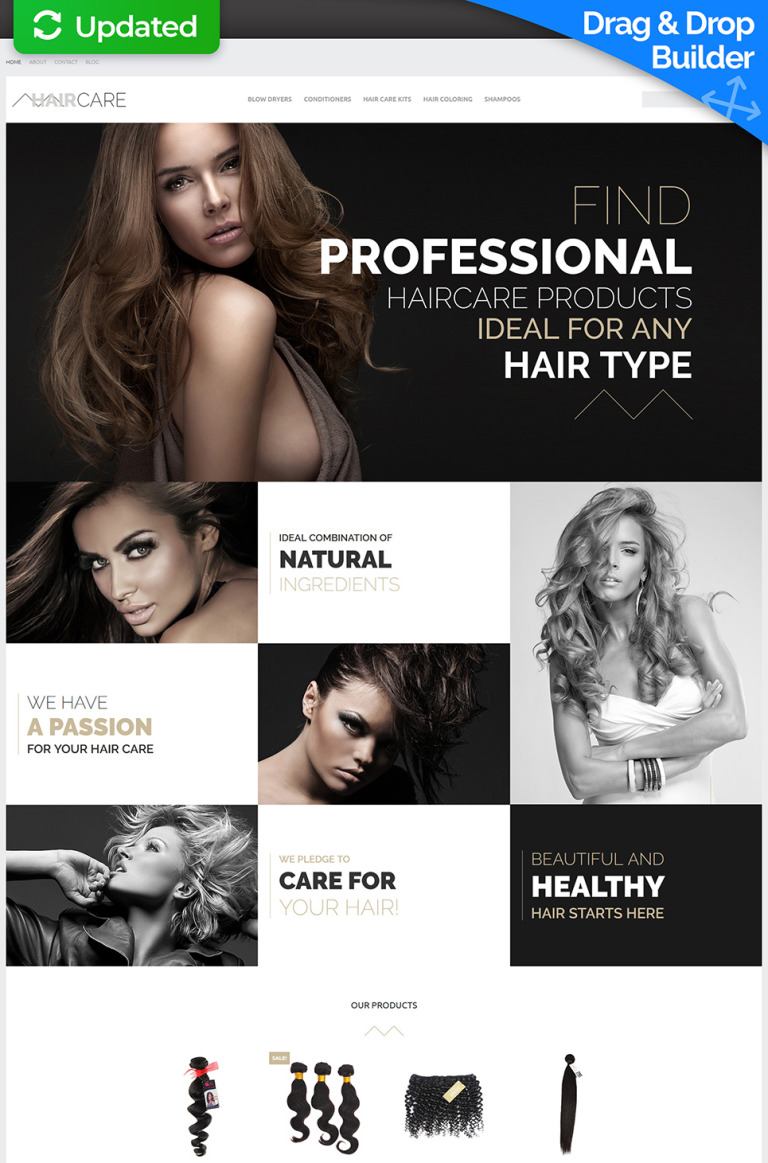 Hair Care - Professional Salon MotoCMS Ecommerce Template New Screenshots BIG