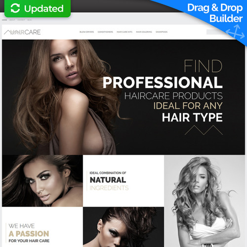 Hair Care - MotoCMS Ecommerce Template based on Bootstrap