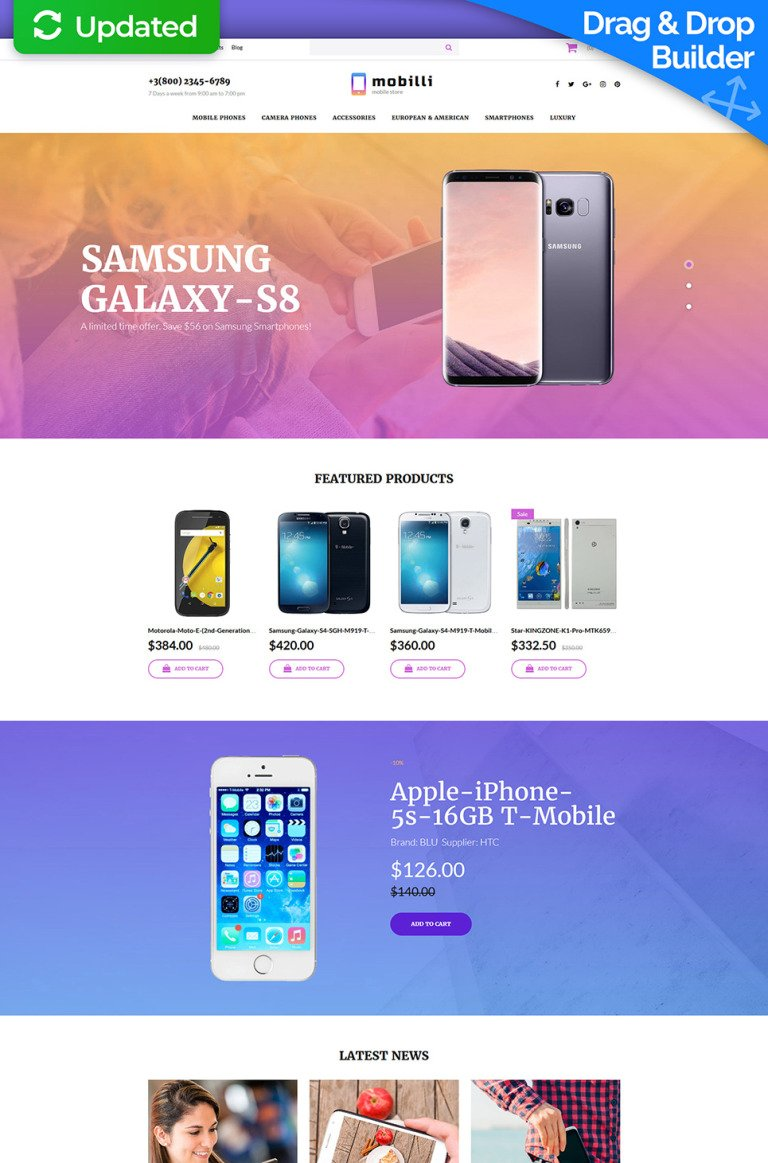 Mobile Store Responsive MotoCMS Ecommerce Template New Screenshots BIG